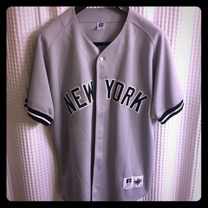 more photos 202e0 1d6aa Authentic Russell NY YANKEES Road/Away Game Jersey